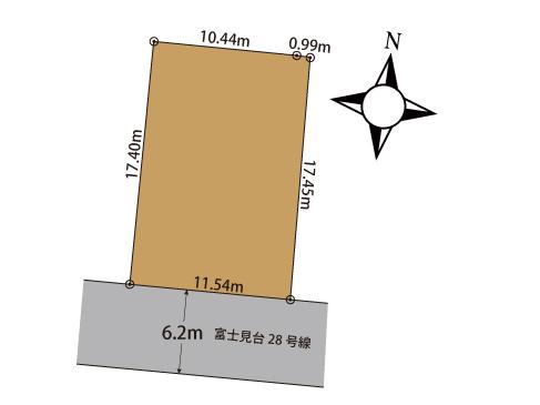 三島市富士見台  土地