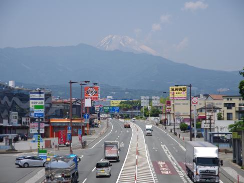 東名沼津ICに続く街道はレストランや食事処が立並ぶグルメ通りとなっています